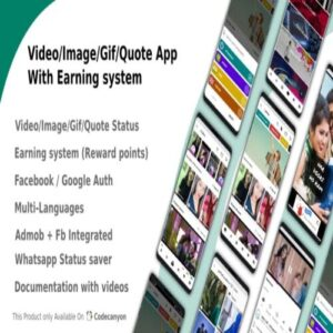 VideoImageGifQuote App With Earning system (Reward points)